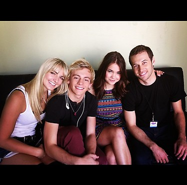 Rydel and Ross with Maia Mitchell (Ross' Teen Beach Musical co-star) and Chris Scott (LXD)