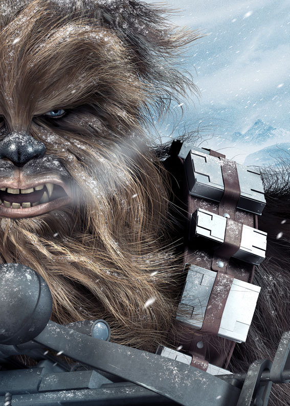 xombiedirge:  Han Solo & Chewbacca: Hoth Intruders by Chris Wahl
