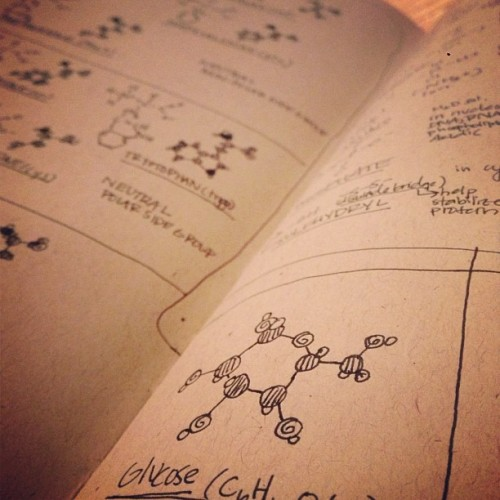 amyleeerobinson:  Cute molecules. #chemistry #photosofnotes  (Taken with Instagram)