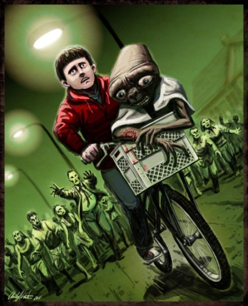E.T. / zombie getaway by Andy J. Hunter