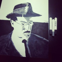 Fernando Pessoa, made with markers Magic-Color Soft Type.