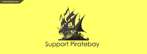 Support The Pirate Bay Facebook Cover