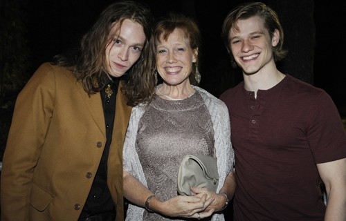 "Caleb with his mom and Lucas Till at the ""Antiviral"" premiere at TIFF."