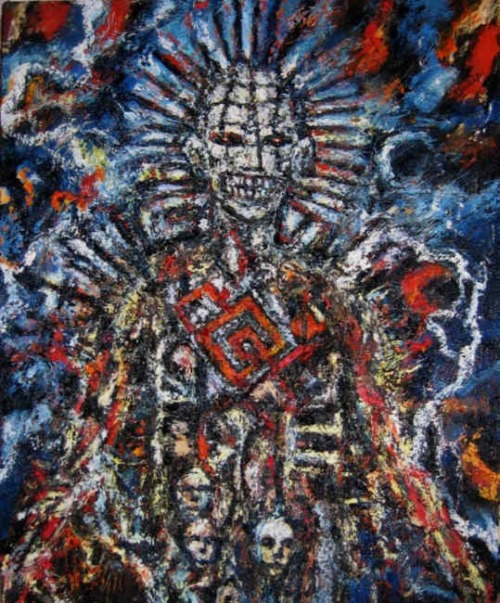 Pinhead by Clive Barker, Oil on Canvas , 2007