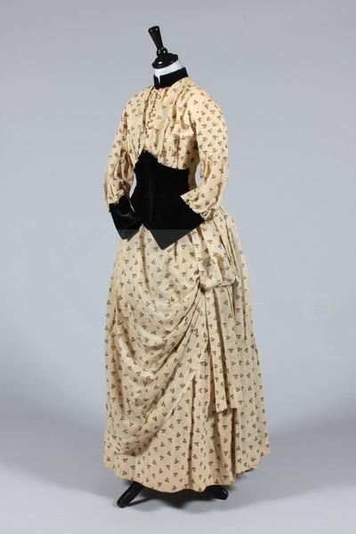 Dress, ca 1880's The lot contains a number of items, mostly from the 1890's. Click to go to the absentee bidding page.  This Kerry Taylor auction will end October 16th at 2:00 PM GMT (9:00 AM EST).  You will need to register to bid ahead of time.