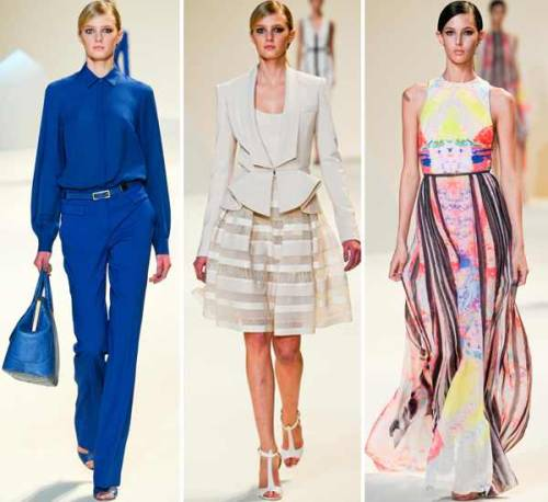 PARIS FASHION WEEK: ELIE SAAB- S/S 2013 STYLISH AND ELEGANT OFFICE APPROPRIATE ENSEMBLES COMBINED WITH VIVID AND NEUTRAL HUES = GORGEOUS! <333 PHOTO SOURCE: STYLESIGHT.COM