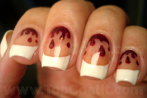 fuckyeahnailart:  (via Bloody Cuticles « Top Coat It)  How freakin' cute are these?!