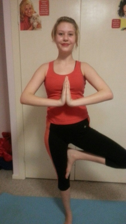 Billy likes to take pictures of me doing yoga :P