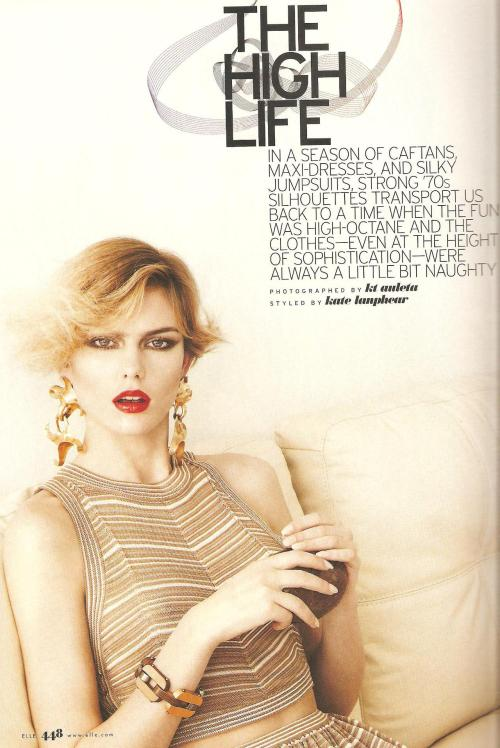 Elle March 2011 (in Fendi, Salvatore Ferragamo and Lanvin)