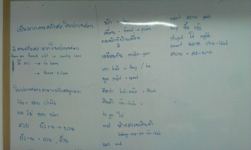 Thai language lesson 3 on Wednesday 3/10/2012