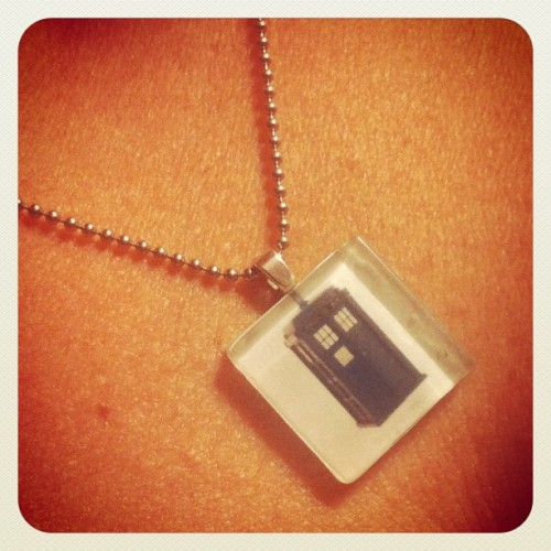 .@karice's awesome Tardis necklace. #drwho (Taken with Instagram)