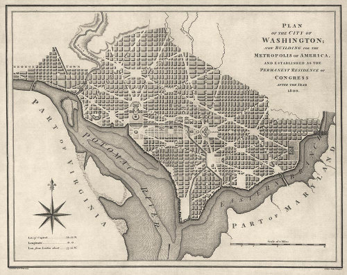 landofmaps:  Washington D.C. (1793) [1000x794]
