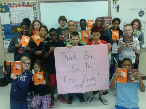 The students at Moffett School in Moffett, Oklahoma are excited to have brand-new books thanks to First Book.
