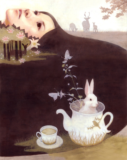 glittertomb:  pulmonaire:  Green Tea by Erika Yamashiro  this is perfect.  just exquisite!!