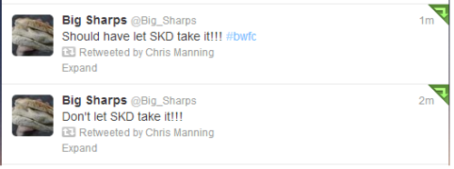 Chris Eagles misses a penalty - Twitter.