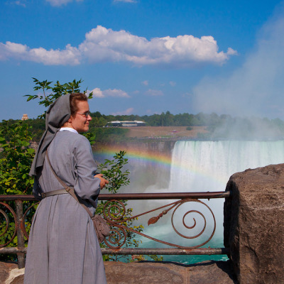 Niagara Falls, a Nun and a Rainbow by Rob Orchard I love that jesucaritas picture of the nun with the rainbow, I just had to find more nuns with rainbows