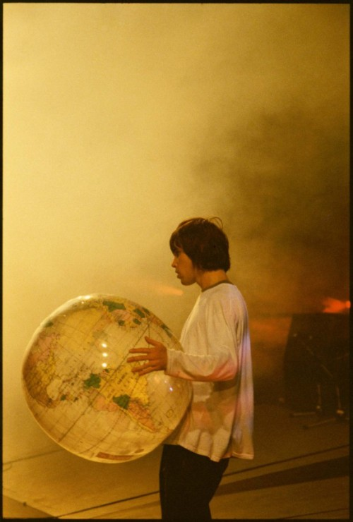 zombiesenelghetto:  The Stone Roses: Ian Brown at Spike Island, photo Dennis Morris 1990