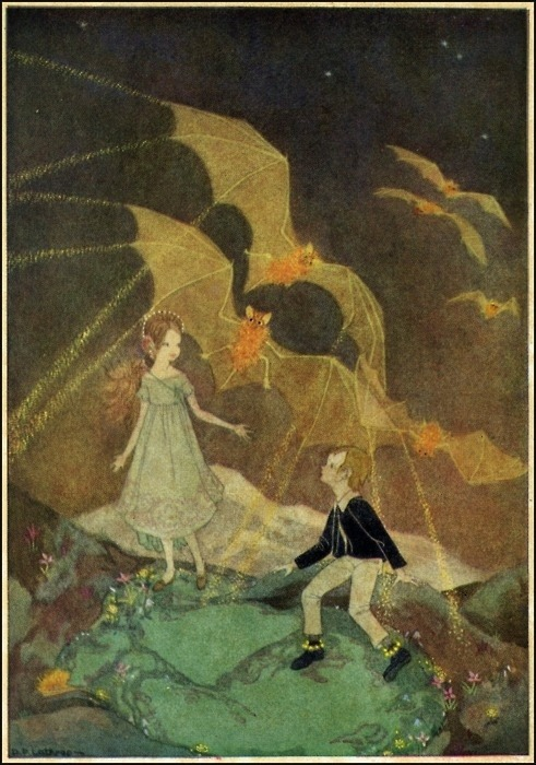 themagicfarawayttree:  Illustration from 'Mopsa, The Fairy', by Dorothy Lathrop.