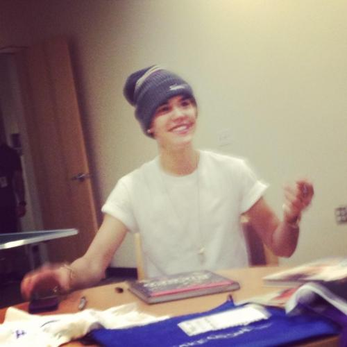 bieber-news:  Justin yesterday in Fresno
