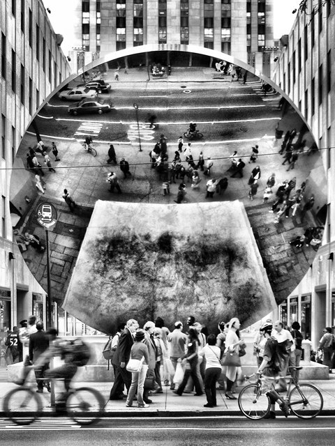 wanderer-fantasy:  Sky Mirror by Anish Kapoor (New York)