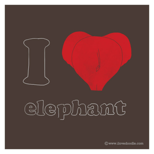 I Heart Elephant on Flickr.Doodle Everyday 348Website / Facebook / Twitter / Tumblr / Etsy