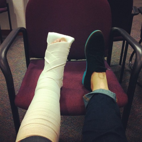 New shoe, new break. (Taken with Instagram at University Health Service)