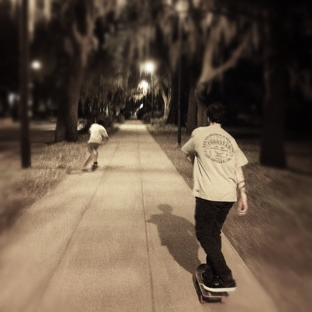 #pushing with @wes_coast and @plaincruz_89 last night #skateboarding #boozecruise2012 #savannah #georgia  (Taken with Instagram)