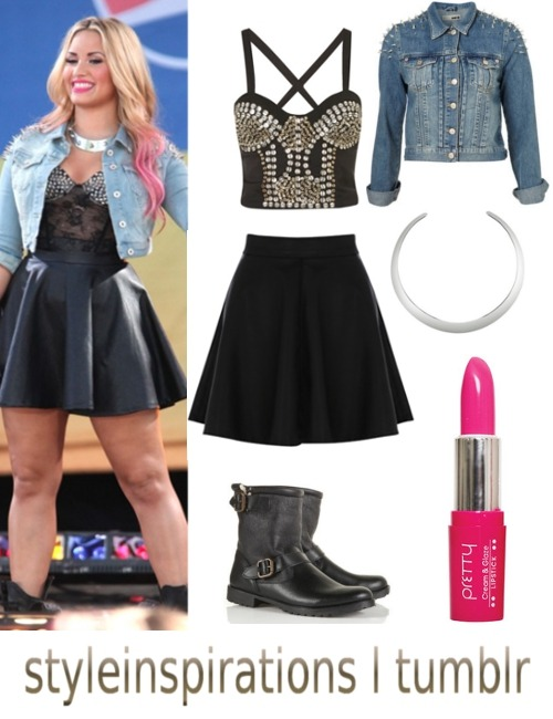 bralet - topshop skirt - john lewis jacket - topshop (alternative) necklace - h&m boots - topshop lipstick - douglas