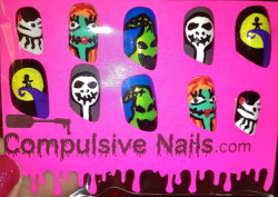 Getting ready for Halloweeen!!! For sale at www.compulsivenails.com and on etsy!!