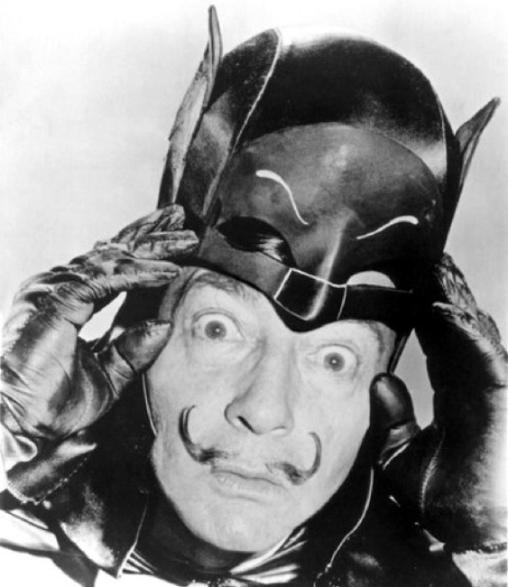 "nevver:  ""I am Batman"", Salvador Dali  WHY DIDN'T I NOTICE BEFORE?!"