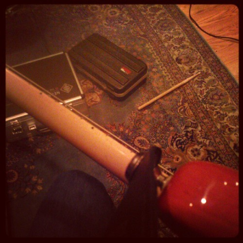 Warm up #afwf #bass #afirewithfriends #studio  (Taken with Instagram)
