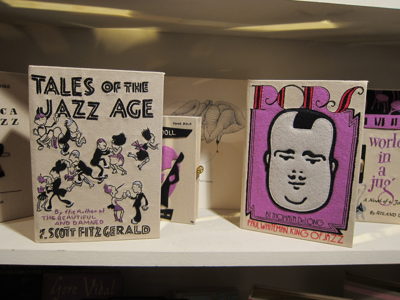 Tales of the Jazz Age and Pops book-clutches by Olympia Le-Tan.