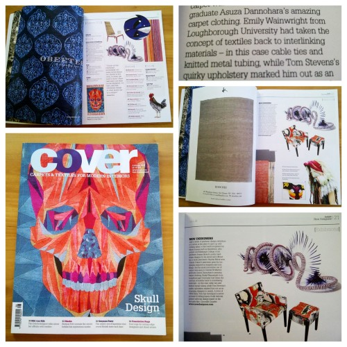 one of my cable tie sculptures featured in COVER MAGAZINE