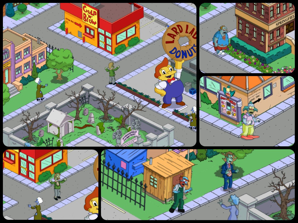 The Simpsons game has been zombie-fied in the run up to the next Treehouse of Horror.   Serious nightmare fuel.