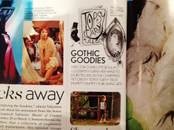 "Topsy Turvy Tales in Vogue, November Issue: ""Gothic Goodies"""