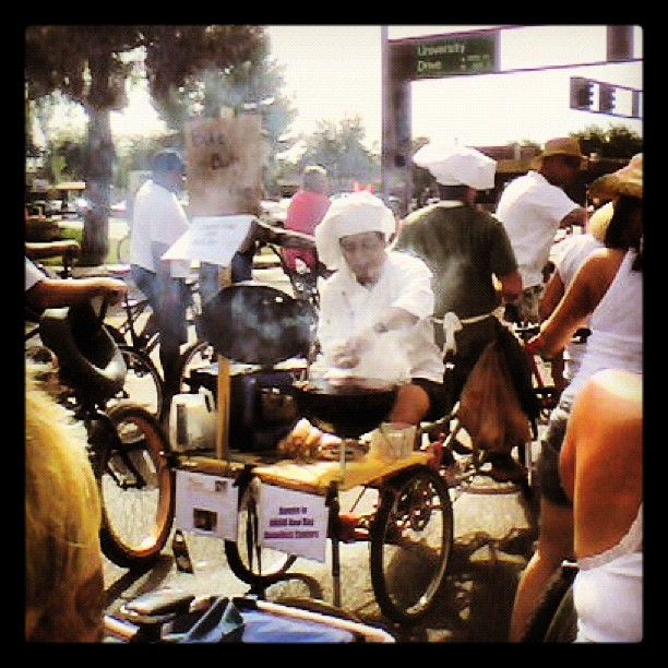 …and this happened. Grilling on the back of a #bike #TourDeFat in #Tempe #Arizona this morning (Taken with Instagram at O'Reilly Auto Parts)