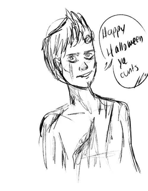 Doing halloween sketches hollaaaa this is niall horan kinda-zombie-kinda-vampire-idk enjoy