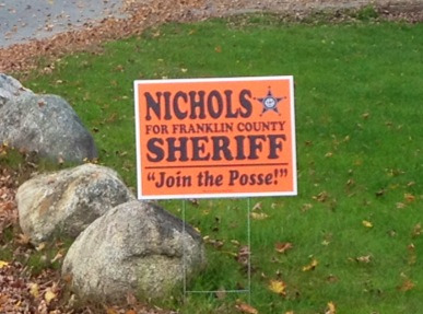 "Don't know Nichols' politics, but I like the catchy call to action (if not the layout, no words ever written require ""quotation"" marks, italics & an exclamation point!)."