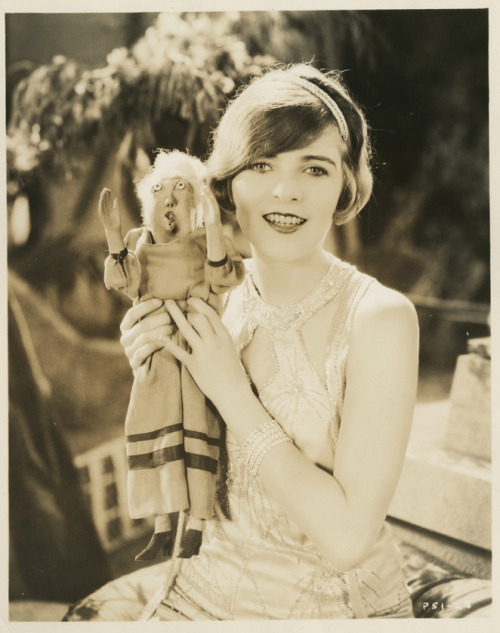 maudelynn:  Blanche Sweet and her Goofis doll, by James N. Doolittle c.1926