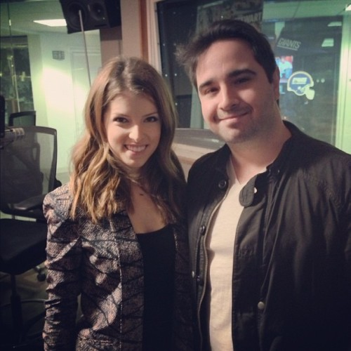 Got to chat with @AnnaKendrick47 about #PitchPerfect. Super cool lady and HIGHlarious movie. Go see it! #movies (Taken with Instagram)