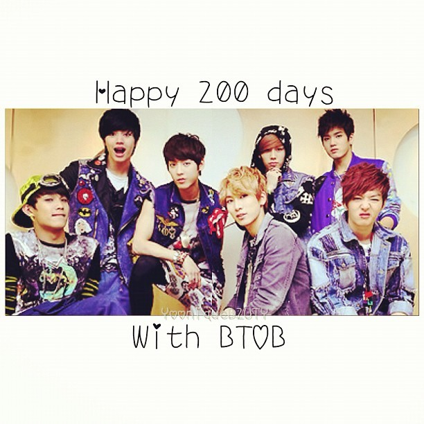 200 days already? Wow, time flies! It has been an amazing 200 days & I look forward to the days to come. BTOB, fighting! #btob #200dayswithbtob #cubefamily (Taken with Instagram)