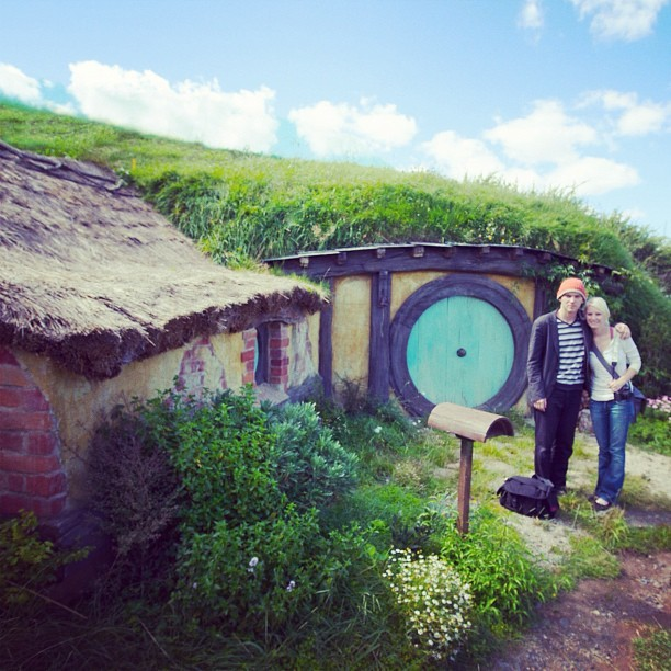 On our honeymoon we went to Hobbiton. I just saw an article in the NY Times so I had to share our nerdiness