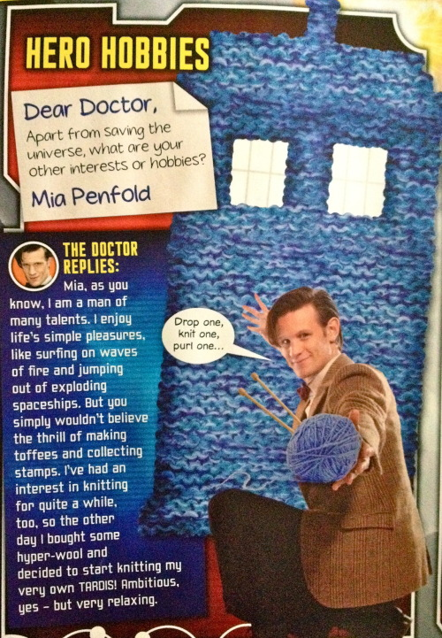 The Doctor Replies.