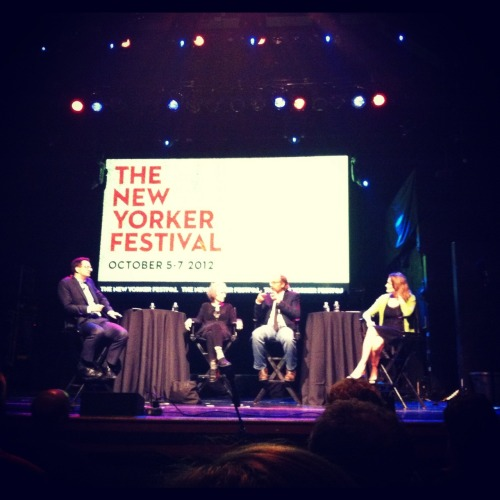 Last night, I went to The New Yorker Festival's talk on Dystopias/Utopias featuring Margaret Atwood, George Saunders, and Jennifer Egan. Cue way too many emotions in the first minute for me to coherently listen to anything they were saying. (Although it should be noted that Margaret Atwood is a rather loquacious, IDGAF old lady. Would we want her any other way?) After a month of real classes in which I sift through endless legal opinions and pine for the days of reading Faulkner rather than Cardozo, it's incredible to sit somewhere and realize that two of these people (Atwood and Egan) were the ones who penned words that made me dissolve into a pile of feelings from ages seventeen to … the present. It's a little different from meeting musicians or film directors. At least, for me. As much as I love art in all forms, nothing is quite as directly affecting as words. Here are just a bunch of folks sitting there, chatting, but you know they are able to tap into a kind of emotion that links directly to what you're feeling. I might need to learn how to be more overwhelmed by real life, and less by fiction, but that might be the equivalent of trying to re-write twenty-three years of self-conditioning.  An unfortunate side effect of physical and emotional maturation is finding the people and circumstances around you more and more uninspiring. Or perhaps those are just my poor life choices. Either way, self-preservation is going to a need a lot more effort from now on. What I love about New York is, in some ways, the same trait as what made Brown so comfortable. You don't really have to worry about the external. There's something for everyone. You're only as susceptible as you choose to be.    Now let me try to follow my own advice.