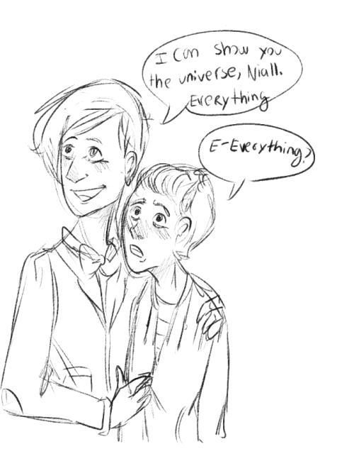 WHAT WHAT first sketch of niALL BEING THE DOCTORS COMPANION I JUST WANT THIS SO BAD OK ((ill color this later ok rn i need to cry in a corner))