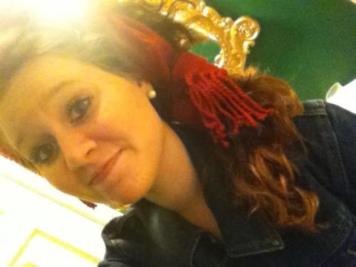 Using a scarf as a hair bow. :)