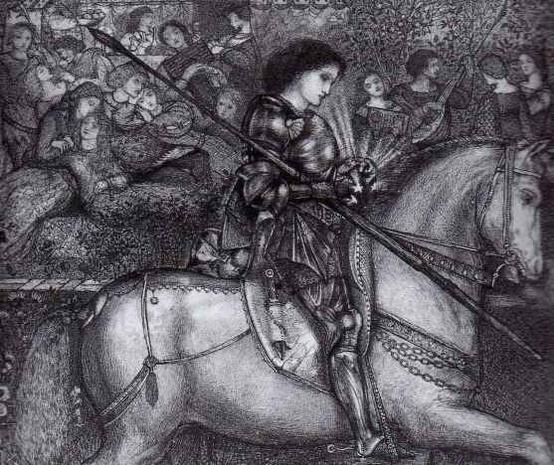 swiftsnowmane:  Sir Galahad by Edward Burne Jones