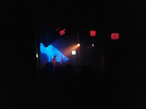 One crappy cellphone picture of PANTHA DU PRINCE at Waves Vienna, 6 October 2012, Flex Finally. This would have been even nicer had the circumstances been different. After three days of an overall exciting and great showcase festival and conference like this, not only sleep is missing but also the feeling of genuine, honest human interaction, with everyone pitching their projects to everyone else and being nice to each other only to get ahead. We got so used to it that even we took part in this general fakeness and now detox is badly needed, in both a physical and mental way. Goodbye Waves Vienna 2012, see you again next year, hopefully (but no sooner than that).