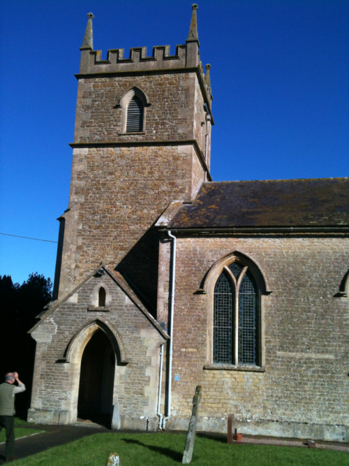 This picture is of St Andrews Church in Stoke Trister. This is another ground floor ring of 6 bells of 7cwt.  Wincanton Church bells weighs 15cwt.   After we left Wincanton to come to Stoke Trister, managed to get us lost and ended up in Gillingham. The country side made up for the little detour of missing a very small road sign. Oops.  The bells here are really nice to ring and also sound lovely too.  The church is a lovely little church but there is not much to look at, except the ringing chamber at the back of the church.  Happy reading and thank you.
