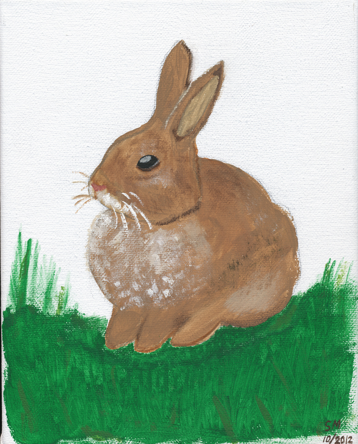 I painted a bunny rabbit :)